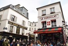 Coin de Montmarte un jour nuageux image libre de droits