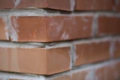 Coin de mur de briques Photo libre de droits