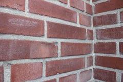 Coin de mur de briques Photographie stock