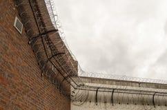 Coin de mur intérieur, lisant la prison Image libre de droits