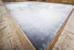 Coin de parc de patinage de glace photos libres de droits