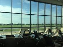 Coin de relaxation à l'aéroport images libres de droits
