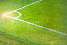 Coin de terrain de football photographie stock libre de droits