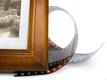Coin de trame de photo et bande de photo Photos stock