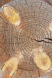 Coin de vieille maison en bois Photos libres de droits