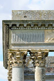 Coin des colonnes romaines en haut Images libres de droits