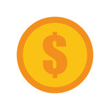Coin dollar money currency icon Stock Photography