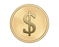 Coin with dollar symbol Stock Photography
