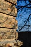 Coin du mur de briques image libre de droits