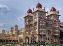 Coin du sud-est de bloc de palais de Mysore, Inde Photo stock