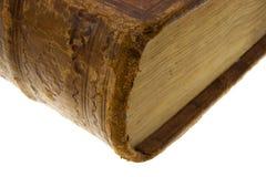 Coin du vieux livre avec le blocage Image libre de droits