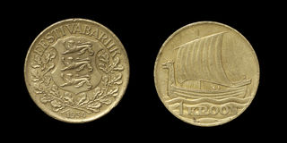 Coin of Estonia - obverse and reverse Royalty Free Stock Image