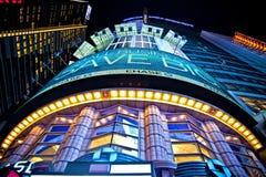 Coin et lumières de Times Square Photographie stock