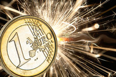 Coin euro Stock Image