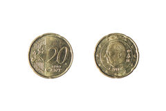 Coin of 20 euro cents Royalty Free Stock Images