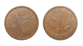 Coin 2 euro cents Germany. Numismatics of coins of the world royalty free stock images