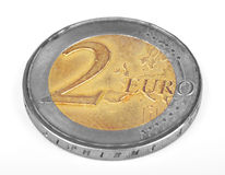 Coin 2 Euro Royalty Free Stock Photography