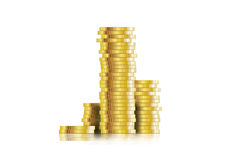 Coin. Euro coins stacked  illustration Royalty Free Stock Photography
