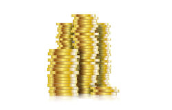 Coin. Euro coins stacked  illustration Stock Photography