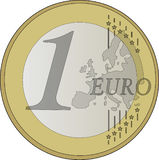 Coin, Euro, Europe, France, Money Stock Images