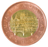Coin of fifty Czech krones. Royalty Free Stock Photo