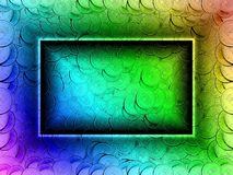 Coin filled background in rainbow colors. Swedish coins stock photo