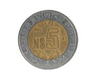 Coin five peso Stock Photography