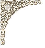 Coin fleuri de trame Image stock