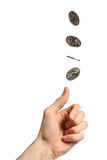 Coin flip royalty free stock photos