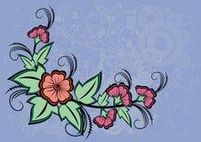 Coin floral abstrait Illustration de Vecteur