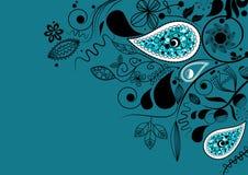 Coin floral de vecteur illustration stock