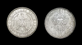 Coin of Germany with eagle Stock Photo