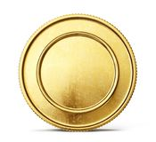 Coin. Gold coin sign isolated on a white backgrond. 3d illustration Stock Image
