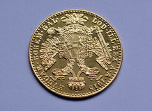 Coin - gold ducats of Austria - Hungary Royalty Free Stock Photo