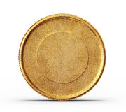 Coin. Gold coin isolated on a white background stock illustration