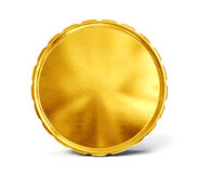Coin. Gold coin isolated on a white. 3d illustration royalty free illustration