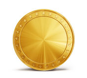 Coin. Gold coin on a white background royalty free illustration