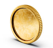 Coin. Golden coin  on a white backgroound Royalty Free Stock Photo