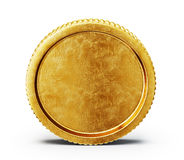 Coin. Golden coin  on a white backgroound Stock Image
