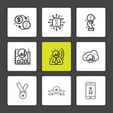 Coin , golem , dollar, ,chip , ic , graph , cloud, smart phone. Medal ,icon, , design, flat, collection, style, creative, icons - This Vector EPS 10 vector illustration