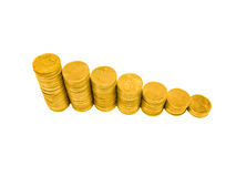 Coin Graph Stock Image