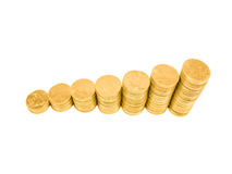 Coin Graph royalty free stock image