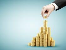 Coin graph Royalty Free Stock Photos