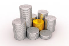 A coin graph Stock Image