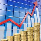 Coin graph Royalty Free Stock Photo