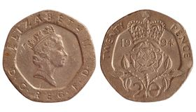Coin of great britain 1994 year Royalty Free Stock Photography