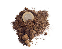 Coin on ground Stock Photo