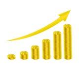 Coin grow graph Stock Photo