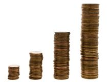 Coin growth Stock Image