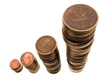Coin growth Royalty Free Stock Photography